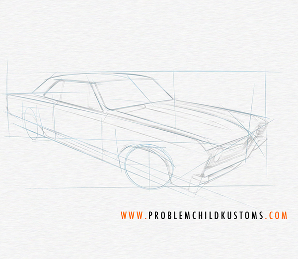 Drawing A Chevelle On Behance