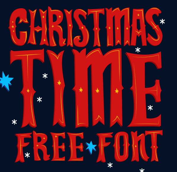 Christmas Time FREE Font on Behance