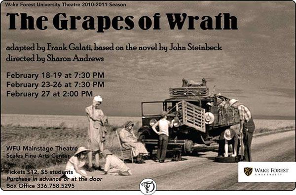 the purpose of the inter chapters in john steinbecks the grape of wrath The big idea - the grapes of wrath john steinbeck was ma joad's we're the people speech that ends the film is actually taken from a book chapter that.
