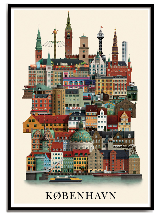 copenhagen poster on behance