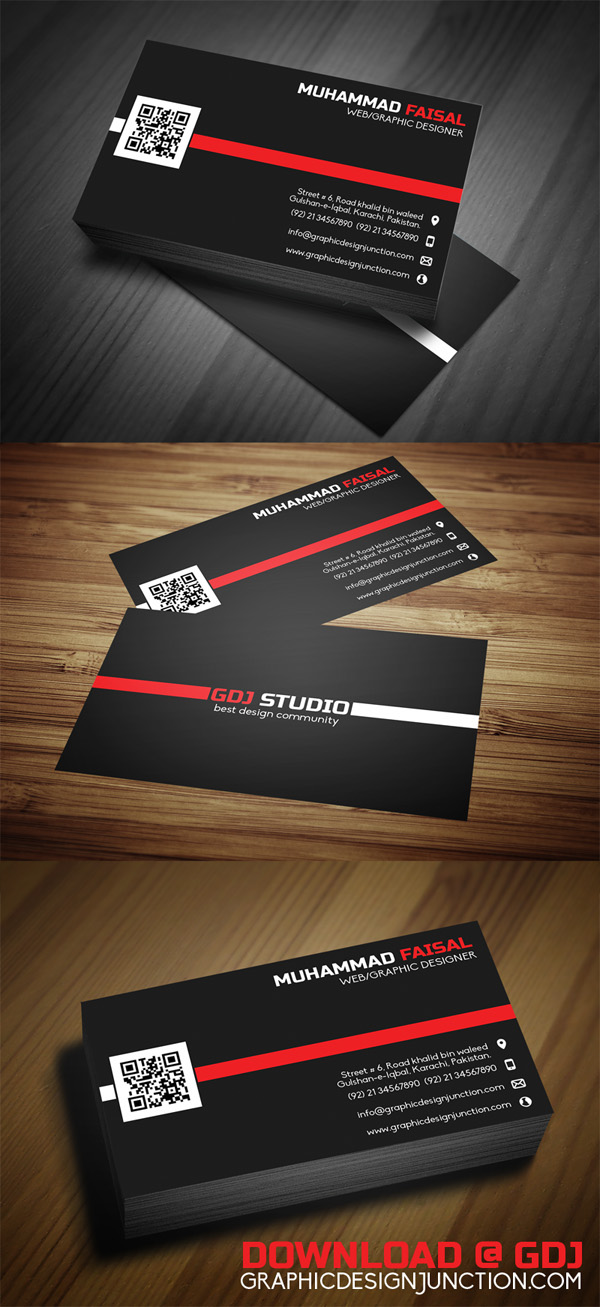 Free PSD Business Card Mockup Template on Behance