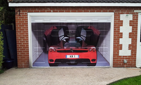 Garage door wrap on behance for Garage wraps
