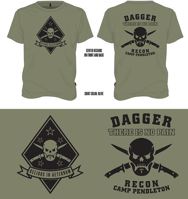 T Shirt Design Dagger Unit Shirts From Lazarus On Behance