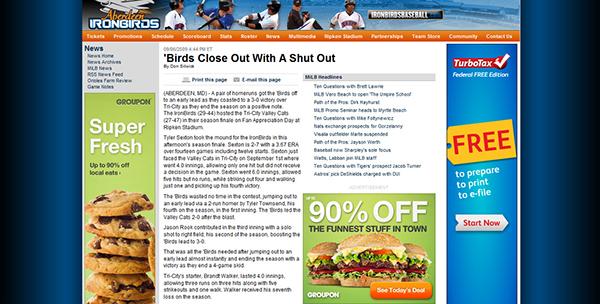 Professional Sports baseball Game Recaps articles