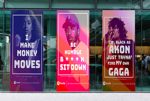 All Type Campaign Behind the Lyrics (Spotify) on SCAD Portfolios