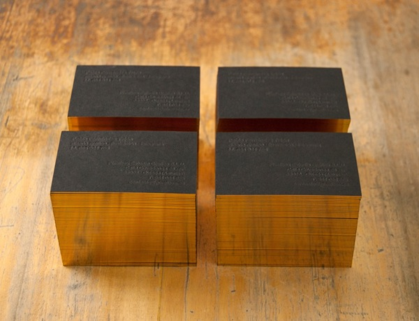 Tarjetas  businnes card  pixelbox  gold