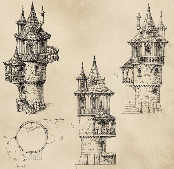 Buildings - RPG on Pantone Canvas Gallery
