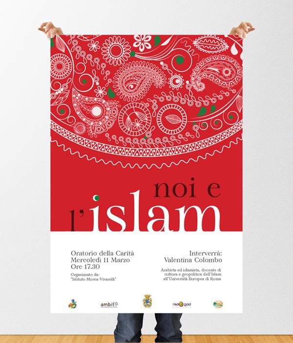 Noi e l'Islam Torresan Victor Illustrator InDesign mock-up