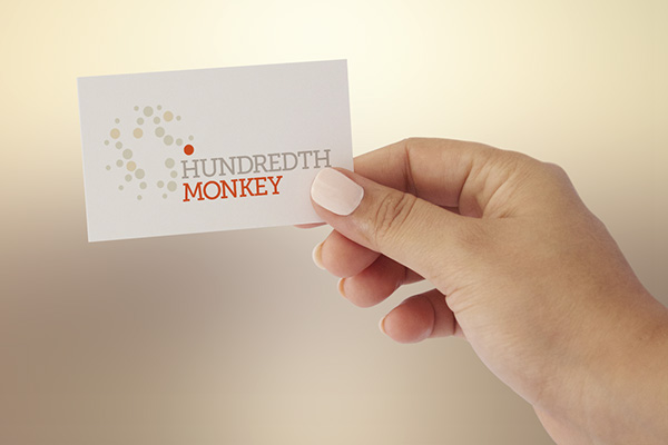Hundredth monkey collective on behance logo design and business cards for a creative production firm that believes in the power of changing minds through meaningful storytelling reheart Images