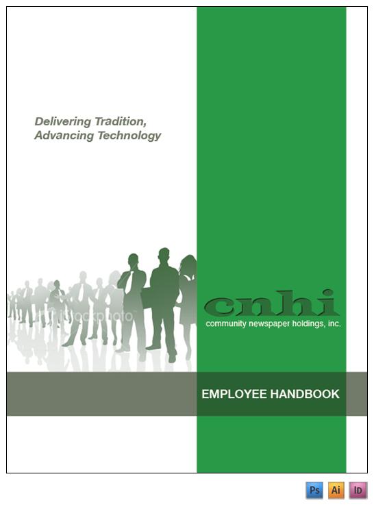 Hand Book Cover Design : Cnhi employee handbook on behance