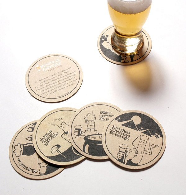 Ilustrations for Beer Coasters