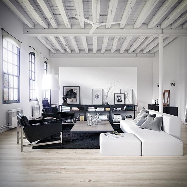 Barcelona industrial loft on behance - Loft industrial barcelona ...