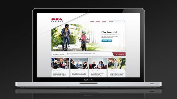 PFA pension corporate Interface clean White