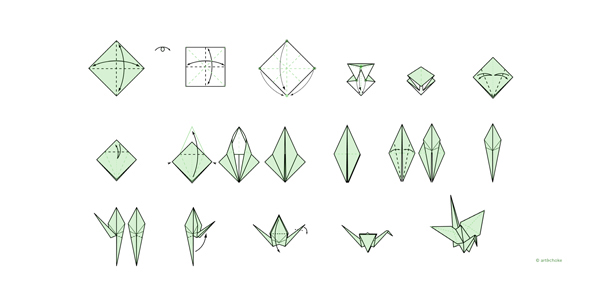 origami  voeux Wallonie durable recyclage