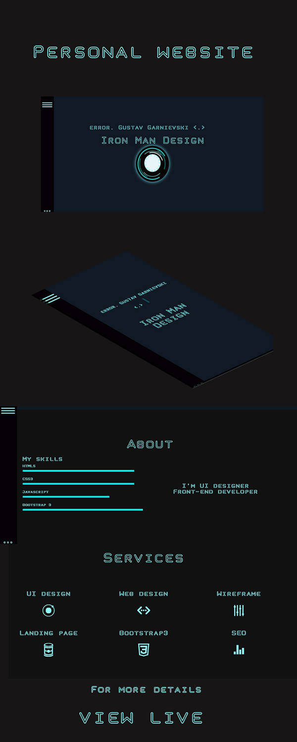 My personal website on Behance