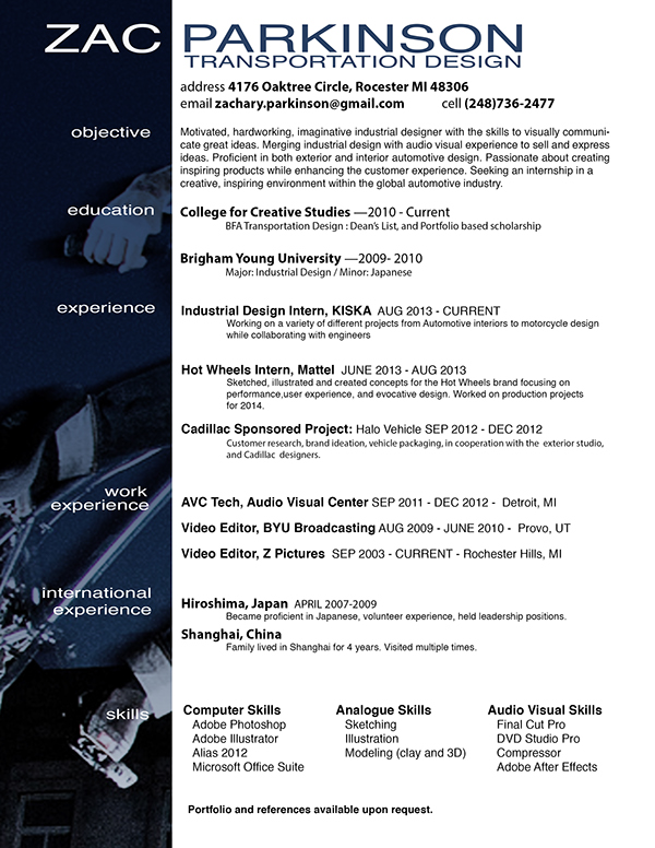 Resume on CCS Portfolios