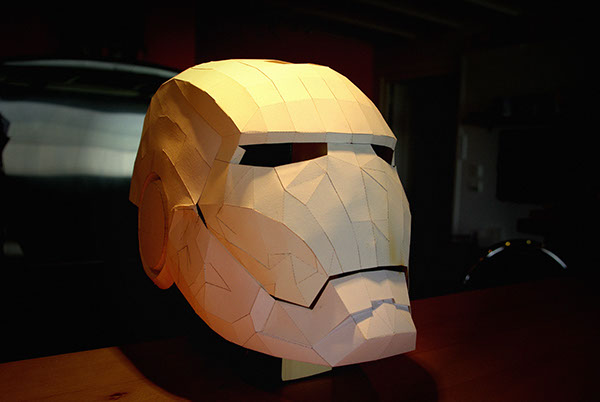 Papercraft Iron Man helmet - (WIP) on Behance