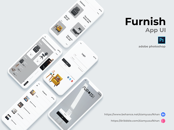 Furniture app ui design