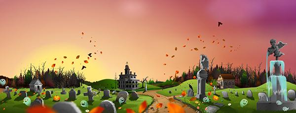 halloween themed game background for children on behance