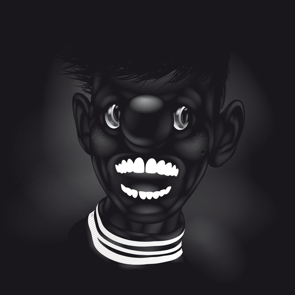 Black in Black black world yury ustsinau dark art glossy White world of black.