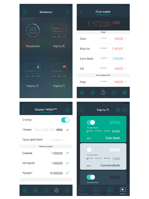 Oplata Minimal Mobile App Design 2