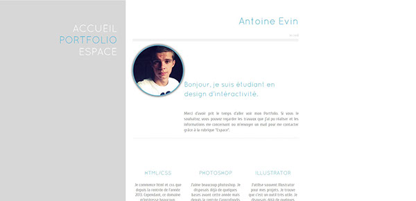 exemple cv css