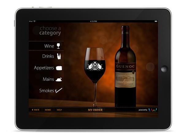 Restuarant menu app for ipad on pantone canvas gallery