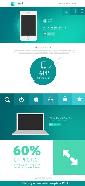 17 Beautiful Web Design Template PSD on Behance