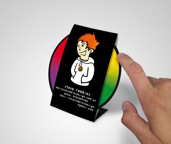 business card colour color wheel hair die cut steve robbins design cards