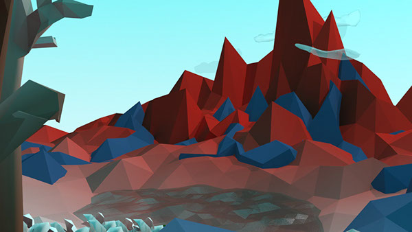 Low Poly 3ds max Autodesk 3d modeling modeling environment mental ray stylized 3D color