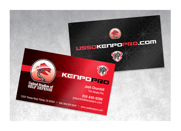 Kenpo pro branding project on behance for the business cards i created a spot uv pattern that incorporates my stylized version of the universal symbol for kenpo and a shuriken ninja throwing reheart Gallery