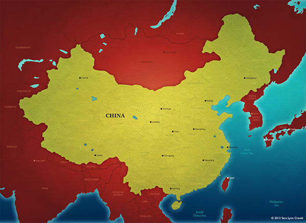 Maps for travel websites on behance map of china created for a world travel website gumiabroncs Images