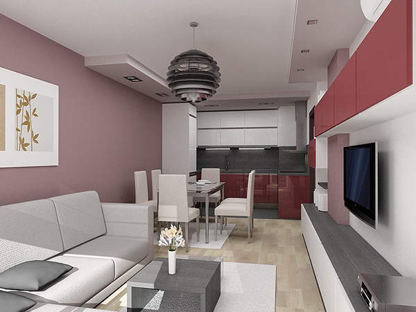Http Www Behance Net Gallery Home Interior Design 07 One Bedroom Apartment 5776551
