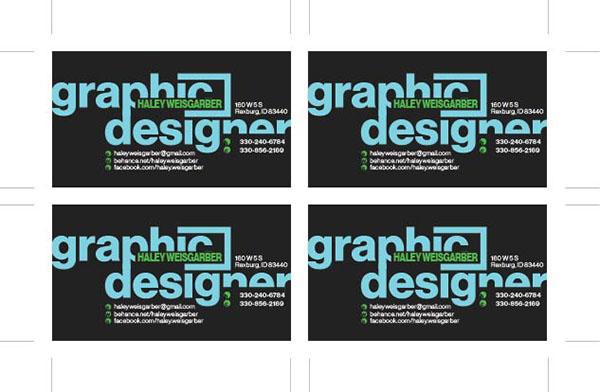 有美感的33款設計師名片欣賞