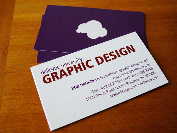 Graphic Design program business cards on Behance