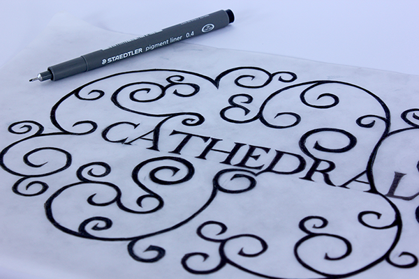 type design,cathedral,handwritten,specimen,free typeface,Free font,point,tip