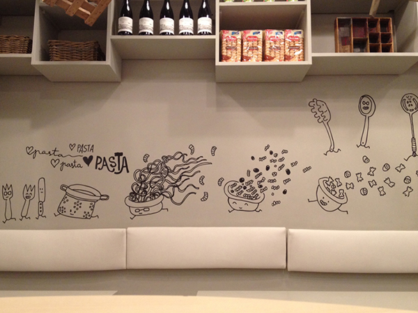 & Maccaroni Restaurant Wall Art on Behance