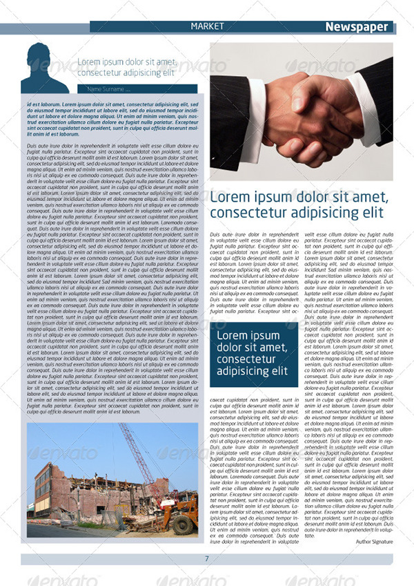 Newspaper Template A4 And A3 Format 10 Pages On Aiga Member Gallery