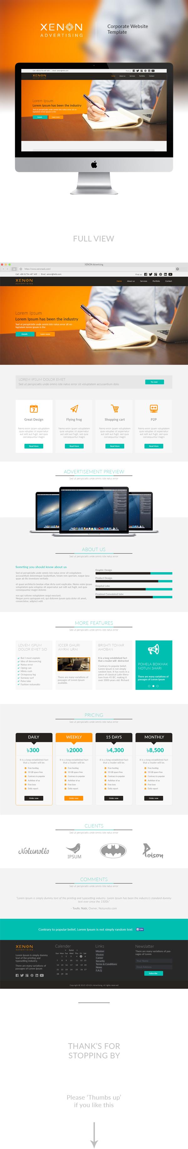 Website webpage UI ux modern Clean Design creative corporate Plain flat design new company brand cool colorful