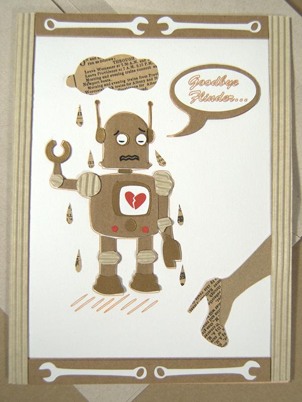 handmade goodbye card on behance