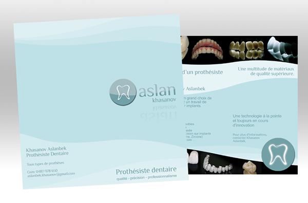 Cration Dun Logo Dpliant Et Dune Carte De Visite Pour Un Prothsiste Dentaire Aslanbek Khasanov