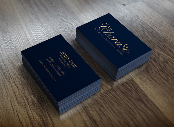 Metallic gold letterpress business card on behance reheart Choice Image