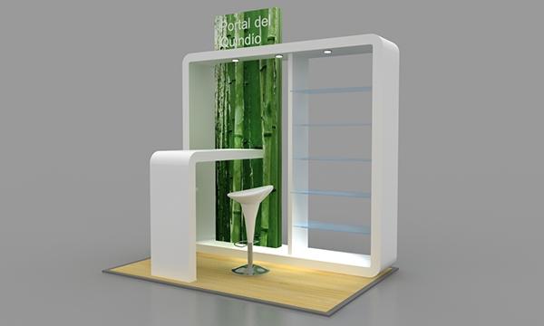 Dise o y fabricaci n mobiliario de centro comercial on behance for Diseno apartaestudio