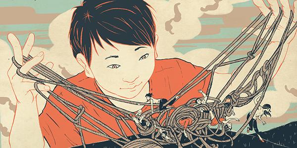 Editorial Illustration line art ink