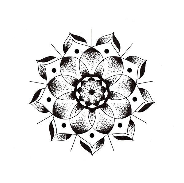 Geometric Flowers on Behance