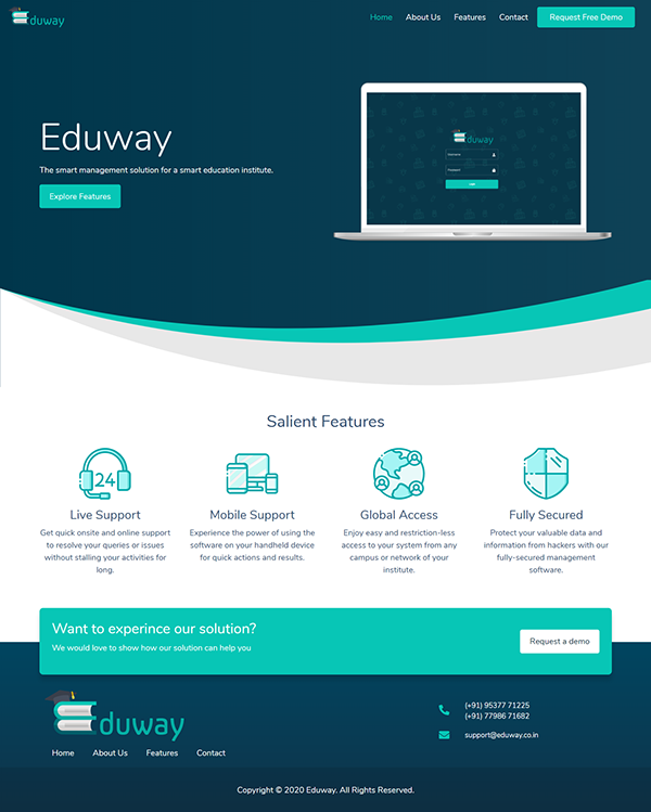 Eduway Logo & Website design