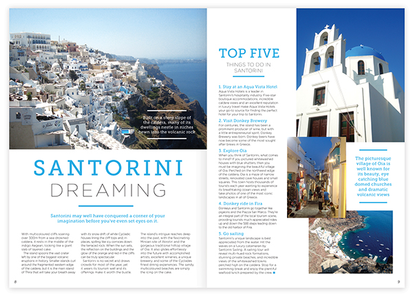 Santorini layout design photography on behance for Article layout ideas