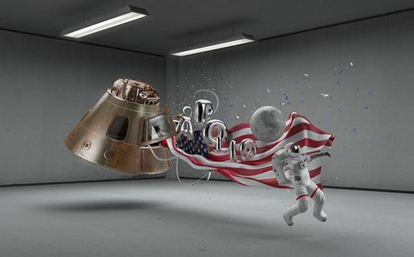 weareplastic madrid CGI 3D Apollo moon