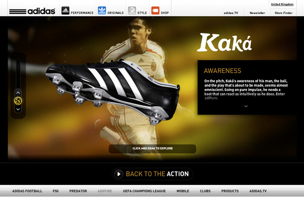 Brillante Conquista Precioso  Adidas Football Campaign Microsites on Behance