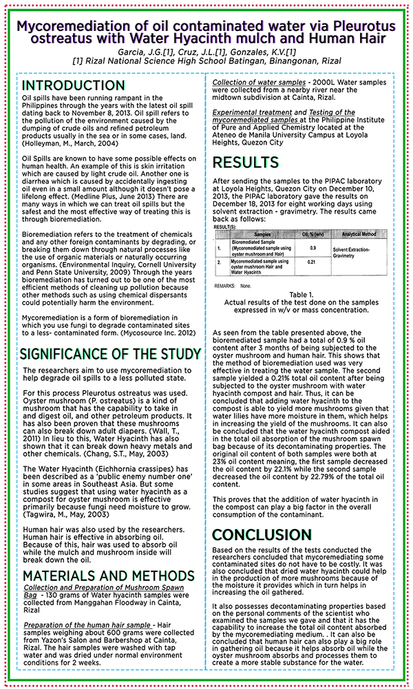 "investigatory project 3 essay Free essay: investigatory project "" kaymito leaves decoction as antiseptic mouthwash "" submitted by: ronnel s pinote i- introduction a background of the."